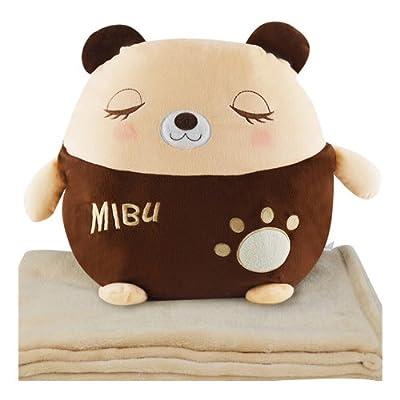 瞌睡熊卡通多用手捂抱枕靠垫毛绒玩具公仔