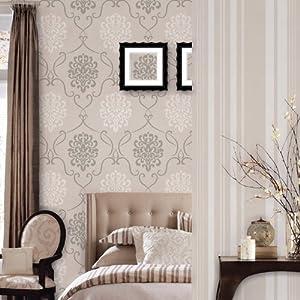 爱朵 硅藻泥去除甲醛墙纸 欧式奢华大马士革会花卧室客厅壁纸 fx66-0