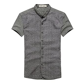 正反面 商务休闲 短袖衬衫