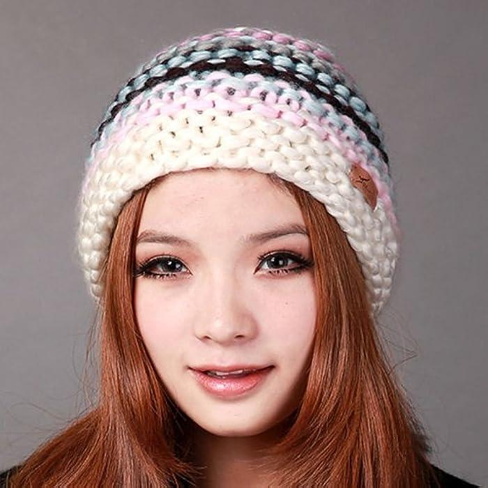 秋冬帽子 冬帽 女款手工编织魔术帽 圣诞帽 针织帽 ds