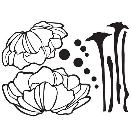 韩国ecoworldgps-052盛开的花朵(黑色)il09153bk墙贴图片
