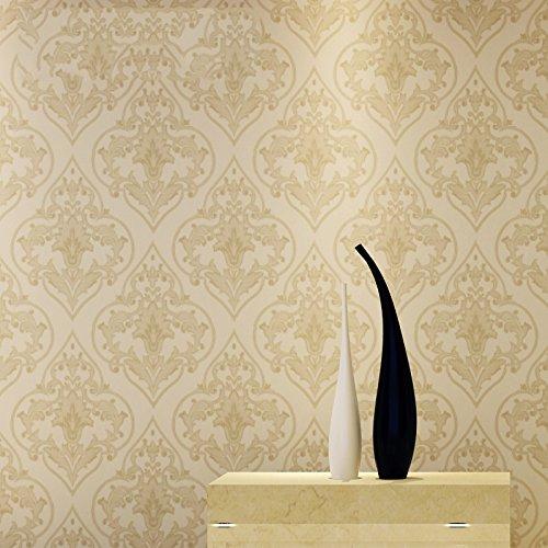 绿泇 无缝墙布 简约欧式电视背景墙壁布客厅卧室餐厅壁布墙布 定高2.