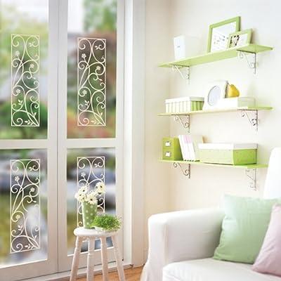 一代墙贴 玻璃贴花-1 可移除墙贴纸定做飘窗橱柜移门窗户花纹边框家居