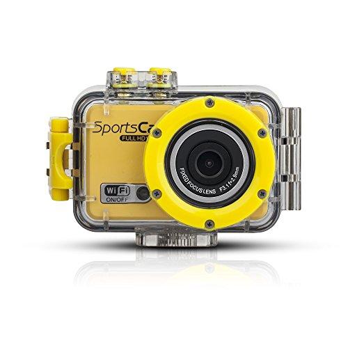 嘉德诺  WIFI高清版 防水摄像运动机 户外运动摄像机 1080P高清拍摄 wifi防水行车记录仪 拍照录像 极限运动拍摄 防水运动摄像机 (国产版配8G内存, 黄色)-图片