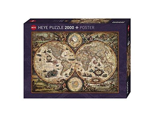 Heye 德国进口成人拼图2000片 古代世界地图 29666