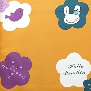 儿童房小花朵卡通环保纯纸墙纸