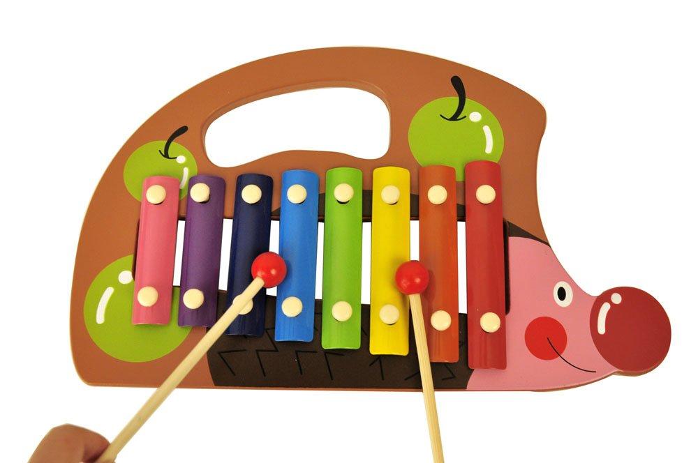 qimen 启萌 学前教育 刺猬八音手敲琴 儿童音乐琴敲打