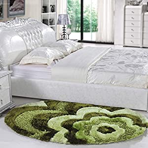 高档奢华卧室地毯 床前毯 椭圆可爱日式欧式现代简约家居地毯 时尚