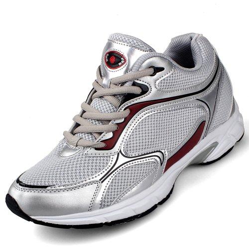 Gog 高哥 增高鞋 男式内增高运动休闲鞋 春季潮流超轻透气运动男鞋1332