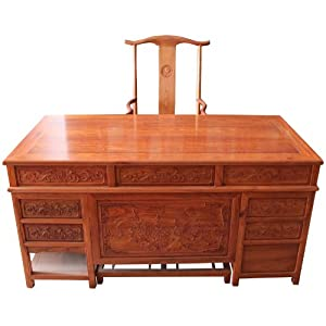 博古恒韵 红木办公桌 实木办公桌套组 办公家具 jcm091
