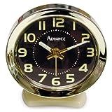 Advance Time Technology Key Wind Alarm Clock, Off-White
