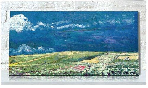 尚世纪 精准印花dmc十字绣正品新款欧式油画名画客厅 梵高之雷云下的