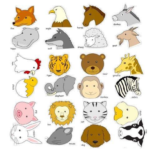 helloparty diy卡通动物头饰头带 24个动物图片