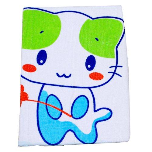 安吉小羊可爱猫咪婴童大浴巾 (蓝色)