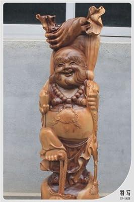 夏老根 香樟木木雕弥勒佛 笑佛 木雕佛像 开业礼品 家居饰品 招财佛56