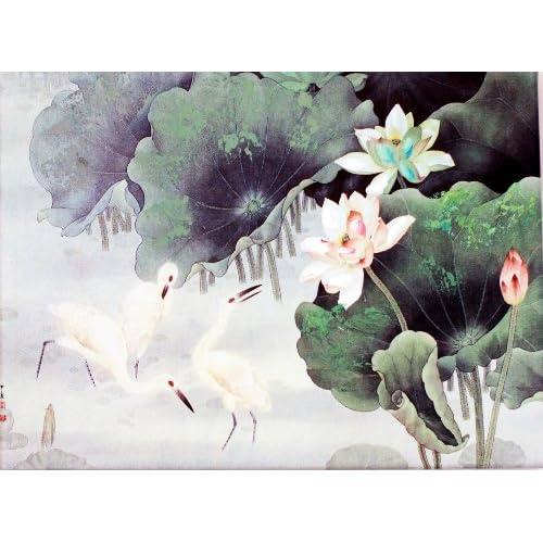 颂风无框油画 中国工笔重彩画系列之西溪鹭影 JD13274 40 30cm图片
