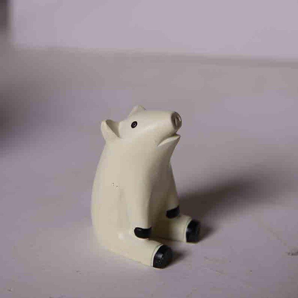 小动物仰望天空创意摆件礼品礼物工艺品zakka树脂守望