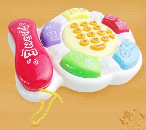 HABIBI 婴儿玩具 会讲故事智能卡通音乐电话机 玩具电话机 益智早教玩具 讲故事电话机-图片