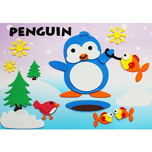 孩派eva贴画儿童手工制作 儿童益智玩具diy幼儿园手工 动物贴纸 (11号