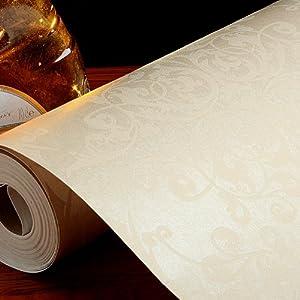 背景墙壁纸菱形大花卧室欧式大马士革壁纸无纺布素色