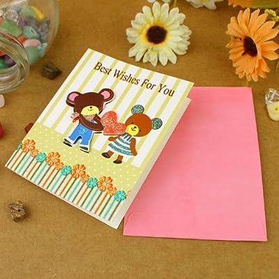 亿梦 日韩精美生日卡片 儿童节卡片 感恩卡商务卡片员工生日卡片祝福