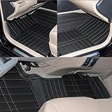JuSaYo 车尚由 进口超纤皮革5层加厚高端汽车脚垫(立体高边高包围 大包围脚垫 经典黑色)-雷克萨斯CT200H(上市年份2012~)专用-图片