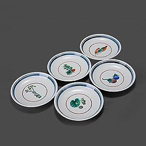 九谷烧 日本五入小碟子 纯手工手绘陶瓷器