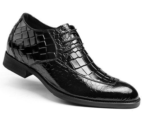 男士内增高皮鞋6.5cm 男式潮流鳄鱼纹皮鞋 英伦高跟男鞋42429