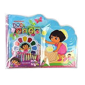 朵拉珍宝填色套装儿童填色画本印章涂色学画画本益智玩具
