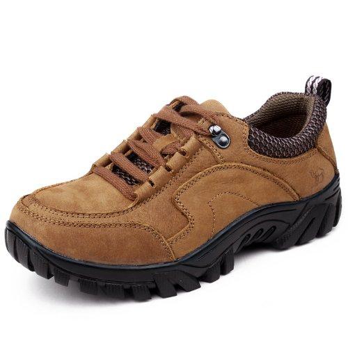 Mrcamel 骆驼 时尚杂志款品质 西部粗旷风格男士休闲鞋 真皮舒适柔软透气 商务流行皮鞋 个性男鞋