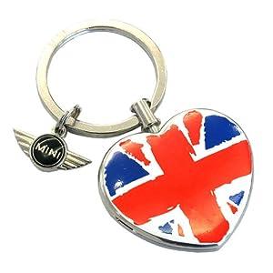 原厂 迷你mini 汽车精品 带心形吊坠的mini钥匙环 钥匙扣 高清图片