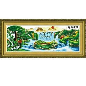 比爱 十字绣 精准印花系列 迎客松财源滚滚 F0115 11CT 162 62cm 免图片