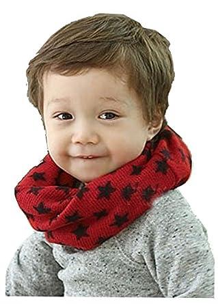 男女儿童围脖可爱五角星韩版针织围巾