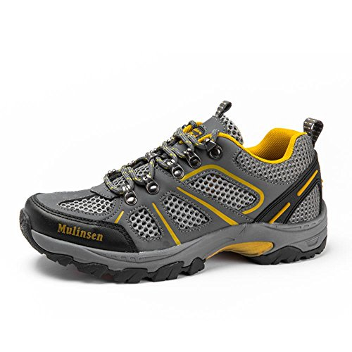 木林森 户外网面登山徒步防滑网布男鞋透气运动鞋