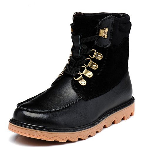 FGN 富贵鸟 冬季男鞋 牛皮马丁靴 时尚韩版 工装靴 高帮休闲靴子