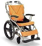 日本河村 AY18-40爱之勇气一车三用轮椅 (座宽 40, 橘色)-图片