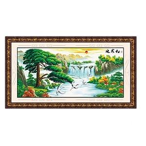 恋美印布十字绣 20063 F108迎客松 鹤寿延年 图案印在布上无需画格 图片