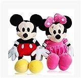 yctoy源辰玩具米老鼠毛绒玩具 迪斯尼米奇米妮公仔 情侣布娃娃玩偶生日礼物一对 (35厘米, 米奇和粉色米妮一对)-图片