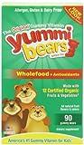 Yummi Bears甜咪小熊 儿童果味软糖(含蔬果原汁及维生素)180g(90粒)(美国进口)-图片