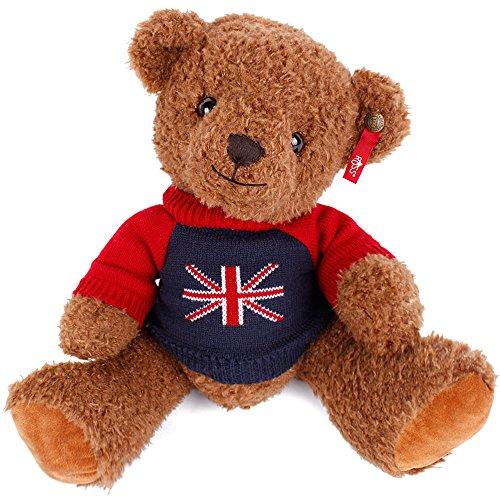 百奇英国毛衣泰迪熊微笑毛绒熊熊公仔儿童抱抱熊布偶高级毛绒玩具穿衣图片