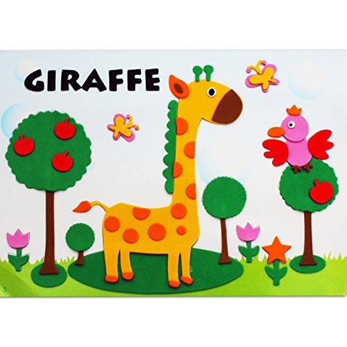 孩派eva贴画儿童手工制作 儿童益智玩具diy幼儿园手工 动物贴纸 (6号
