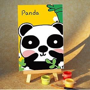 熊猫卡通头像手绘