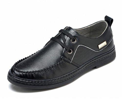 FGN 富贵鸟 春夏新款男士透气真皮板鞋皮鞋时尚休闲圆头男鞋 S489737