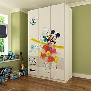 【迪士尼】酷漫居儿童家具 米奇大冒险 三门衣柜/储物柜 长宽高(1195*576*2000)mm