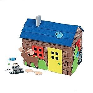 eva手工制作立体房子组合套