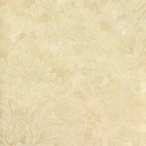 本木n家装欧式大马士革墙纸壁纸卧室客厅电视背景墙无纺布金色花壁纸