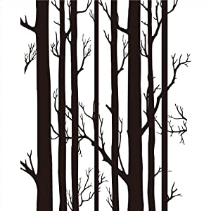 秋田映画 时尚简约抽象黑白红树枝现代装饰画客厅卧室餐厅环保 12mm