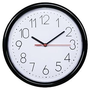 DANNOL 德高 20年出口著名品牌 经典.黑P1206.WBK挂钟 10寸(25.4cm)百折胶系列
