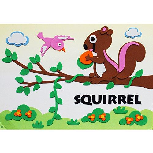 孩派eva贴画儿童手工制作 儿童益智玩具diy幼儿园手工 动物贴纸 (8号
