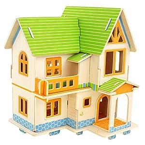木片手工制作房子